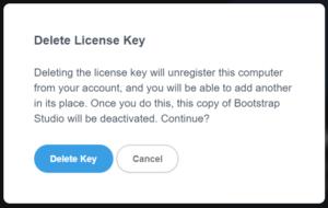 【Bootstrap Studio】ライセンス削除